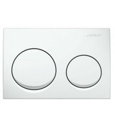 Geberit White PVC Concealed Flush Plate (Model: 14034)