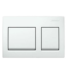 Geberit White PVC Concealed Flush Plate (Model: 14037)