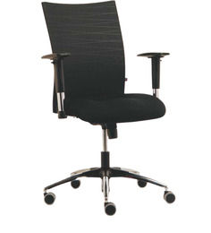 Genesis Series D Mid Back Office Chair in Black Colour by BlueBell Ergonomics