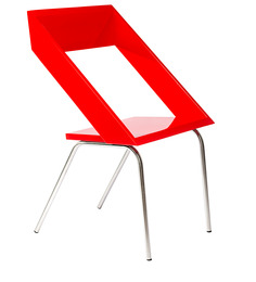 Geo Chair in Red Colour by Tube Style