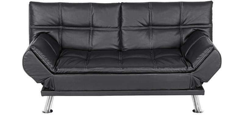 Geneva Sofa cum Bed in Black Colour by Royal Oak