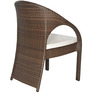 Six Seater Dining Table Set in Brown Colour by GEBE