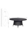 Circular Dining Table Set in Black Colour by GEBE