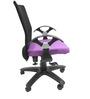 Geneva Desktop Chrome Office Ergonomic Chair in Black & Purple Colour by Chromecraft
