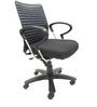 Geneva Desktop Chrome Office Ergonomic Chair in Black Colour by Chromecraft