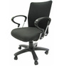 Geneva Desktop Chrome Office Ergonomic Chair in Black Colour by Chromecraft