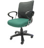 Geneva Desktop Chrome Office Ergonomic Chair in Green Colour by Chromecraft