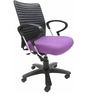 Geneva Desktop Chrome Office Ergonomic Chair in Purple Colour by Chromecraft