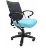 Geneva Desktop Chrome Office Ergonomic Chair in Sky Blue Colour by Chromecraft