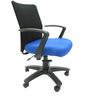 Geneva Desktop Marina Office Ergonomic Chair in Black & Dark Blue Colour by Chromecraft