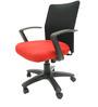 Geneva Desktop Marina Office Ergonomic Chair in Black & Red Colour by Chromecraft