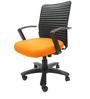 Geneva Desktop Marina Office Ergonomic Chair in Orange Colour by Chromecraft
