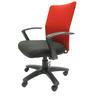 Geneva Desktop Marina Office Ergonomic Chair in Red & Black Colour by Chromecraft