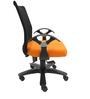 Geneva Desktop T Black Office Ergonomic Chair in Orange Colour by Chromecraft