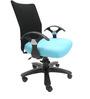 Geneva Desktop T Black Office Ergonomic Chair in Sky Blue Colour by Chromecraft