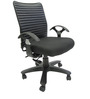 Geneva Desktop T Office Ergonomic Chair in Black Colour by Chromecraft