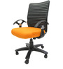 Geneva Desktop T Office Ergonomic Chair in Orange Colour by Chromecraft
