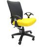 Geneva Desktop T Office Ergonomic Chair in Yellow Colour by Chromecraft