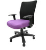 Geneva Desktop WW Black Office Ergonomic Chair in Purple Colour by Chromecraft