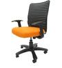 Geneva Desktop WW Office Ergonomic Chair in Orange Colour by Chromecraft