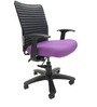 Geneva Desktop WW Office Ergonomic Chair in Purple Colour by Chromecraft