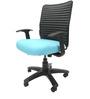 Geneva Desktop WW Office Ergonomic Chair in Sky Blue Colour by Chromecraft