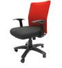 Geneva Desktop WW Red Office Ergonomic Chair in Black Colour by Chromecraft