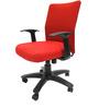 Geneva Desktop WW Red Office Ergonomic Chair in Red Colour by Chromecraft