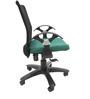 Geneva Office Ergonomic Chair in Black & Green Colour by Chromecraft