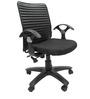Geneva Office Ergonomic Chair in Black Colour by Chromecraft