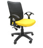 Geneva Office Ergonomic Chair in Yellow Colour by Chromecraft