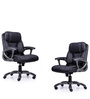 Genius Medium Back Chair in Black Colour by Durian