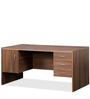 Genius Table with Three Drawer & shutter in Acacia Dark and Silver Grey by Debono