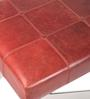 Genuine Leather Bench in Red Colour by Three Sixty Degree