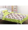 Geo Safari Print Toddler Quilt Set in Green Colour by Raw Kottage
