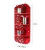 Geographer Eclectic Wall Shelf in Red by Bohemiana