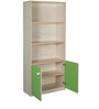 Gia Book Shelf in Golden Maple & Green Colour by HomeTown