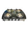 Gilma Nova 4 Burner Stainless Steel and Toughened Glass Manual Gas Stove