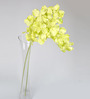 Ginni Bloom Yellow PVC & Synthetic Artificial Vanda Orchid