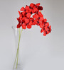 Ginni Bloom Red PVC & Synthetic Artificial Vanda Orchid