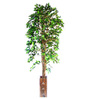 Ginni Bloom Green PVC & Synthetic Artificial Green Ficus Tree
