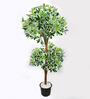 Ginni Bloom Green PVC & Synthetic Artificial Variegated Schefflera Tree