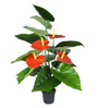 Ginni Bloom Red PVC & Synthetic Artificial Red Anthurium Plant