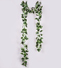 Ginni Bloom White PVC & Synthetic Artificial White Variegated Chain Creeper - Set of 2