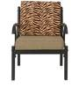 Ginny One Seater Sofa in Black & Brown Colour by @home