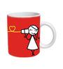 Girl Print Designed Coffee Mug by Orka