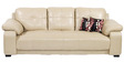 Gloria Three Seater Sofa in Beige Colour by Home City