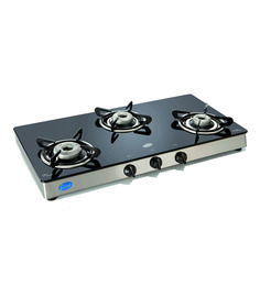 Glen Toughened Glass 3-burner Auto-ignition Cooktop (Model: GL1038 GT)