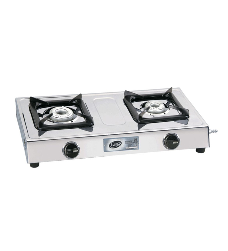 Glen Stainless Steel 2-burner Cooktop (Model: GL1020 SS)  available at Pepperfry for Rs.1749