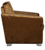 Glamour One Seater Sofa in Brown Velvet Fabric by Sofab
